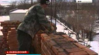 Строительство храма в пос. Кавказский